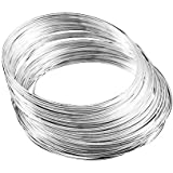Beadsnfashion Silver Finish Memory Wire Finding For Jewellery Making , 100 Rows, Size 2.5 Inch