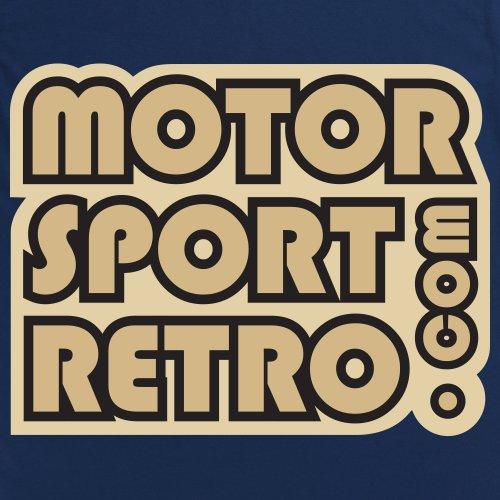 Motorsport Retro Logo T-Shirt, Herren Dunkelblau