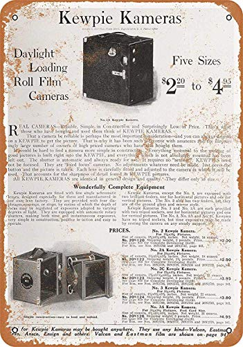 OURTrade 12 x 16 Metal Sign - 1918 Sears Kewpie Cameras - Vintage Look -