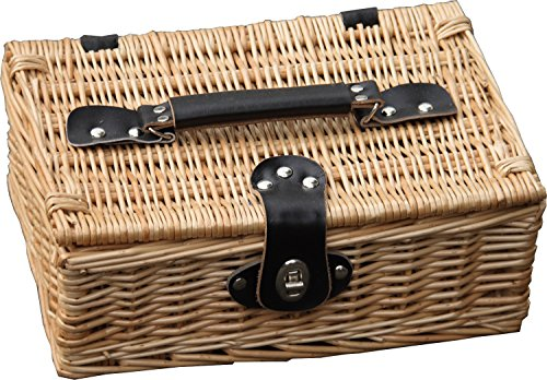 Hay Hampers Baby Empty Lidded Wicker Hamper Basket 12-Inch