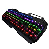 Tastiera da Gioco Meccanica con Retroilluminazione Multicolore con Cavo USB.