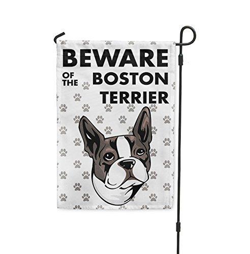 Brownrio Garten-Flagge im Mini Yard Dekoration Flagge, Welcome Familie Party Flagge Boston Terrier Dog