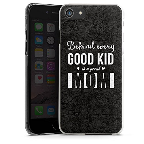 Apple iPhone X Silikon Hülle Case Schutzhülle spruch mom muttertag Hard Case transparent