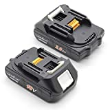 LENOGE 2 Pack Makita BL1820 Li-ion Battery 18V 2.0Ah Replacement for BL1840 BL1830 BL1830B BL1860 BL1815 BL1850 BL1845 196399-0, Fit Power Tool BCS550 BFR550 BGA452 BHP451 BTW251Z BJV180 BHP453 BHP454