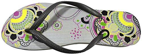 Octave® - Infradito da donna per l'estate e la spiaggia, diversi stili e colori Mandala Design - Grey