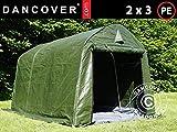 Dancover Lagerzelt Zeltgarage Garagenzelt PRO 2x3x2m PE, mit Bodenplane, Grün/Grau