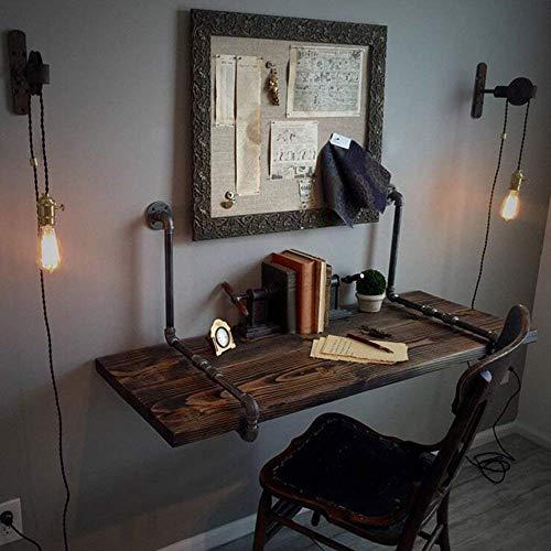 SED Multifunktions Kleine Tabelle Haushalt Wand Retro Industrie Schreibtisch Schmiedeeisen Kiefer Schreibtisch Kreative Schreibtisch Hause Schreibtisch Schlafzimmer Einfache Studie Tisch,80 * 50 * 3 - Kiefer Rechteckig Esstisch