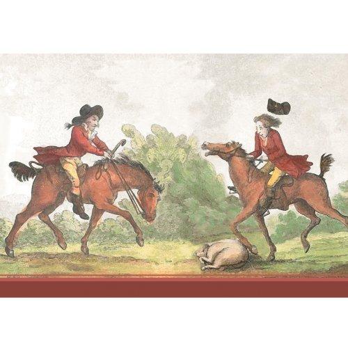GMM Reiter Grußkarte, Klappkarte mit englischem Pferde Motiv, DIN A6 gefaltet, inkl gefüttertem Umschlag weiß • auch zum direkt Versenden mit ihrem persönlichen Text als Einleger. (H/j Geschenke Pferd)