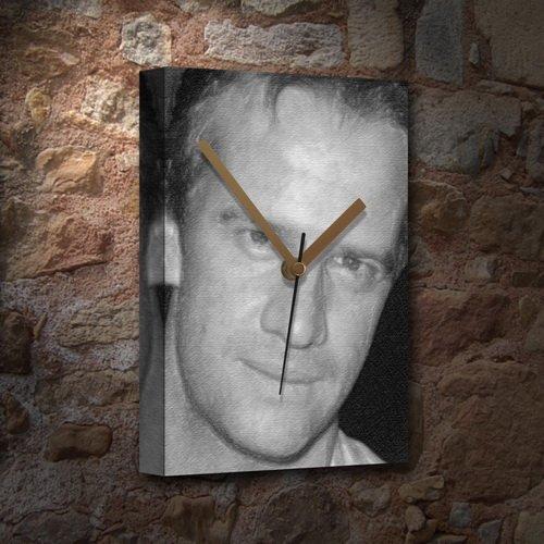 CHRISTOPHER LAMBERT - Canvas Clock (A5 - Signed by the Artist) #js001