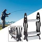 Zexo Présentoir De Canne À Pêche Support De Rangement Amovible Simple pour Canne À Pêche
