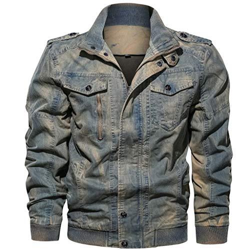 Fannyfuny Shirt Herren Hemd Jacke Mantel Arbeitskleidung Outwear Männer Herbst Casual Beuem Warme Langarm T-Shirt Tops Coat mit aus hochwertiger Baumwollmischung Grau,Rot,Blau M-6XL