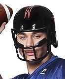 erdbeerclown - American Football Helm, Kostümzubehör, Schwarz