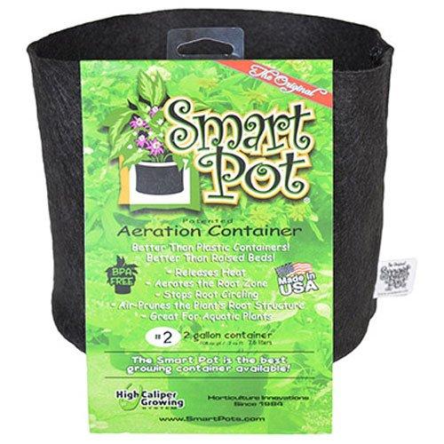 Smart Pots Pot souple, 56 l, Tissu, noir, 2 gallon
