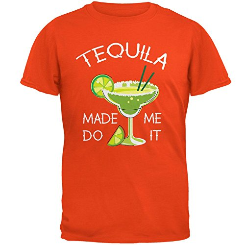 Cinco De Mayo Tequila Made Me Do It T Herrenshirt Orange
