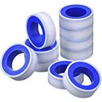 10 Pack Thread Tape PTFE Thread Seal Tape Pipe Sealant Tape for Plumbers Plumbing, 1/ 2 Inch