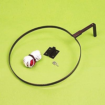 Interior/exterior Netball objetivo montado en la pared soporte de aro de anillos y redes por par