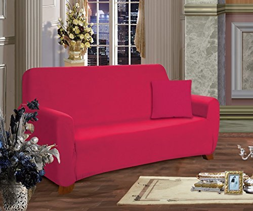 Elegant Comfort? Furniture Jersey STRETCH SLIP-COVER, Loveseat Ruby by Elegant Comfort