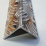 1x Winkel Riffelblech 150x150x1000mm 3,5/5mm stark QUINTETT Tränenblech Alu Aluminium