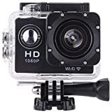 Vemont WiFi Full HD Action Kamera 2,0 Zoll Bildschirm, 12MP 1080P 30m/98 Fuß Wasserdichte Sports...