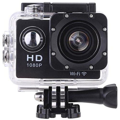 Vemont Action Kamera 2,0 Zoll Bildschirm, WIFI 12MP Full HD 1080P 30m/98 Fuß Wasserdichte Sports Kamera 170°Weitwinkel mit Zubehör Kits (Schwarz)
