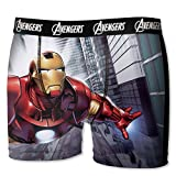 Marvel Herren Boxershort, 6 Verschiedene MEGA-Designs in Allen Größen, Hulk, Iron Man, Captain America (Iron Man2, S/4/46)