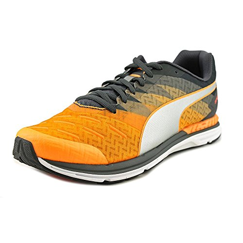 Puma Speed 300 Ignite Synthetik Turnschuhe Orange Pop-Asphalt-Silver