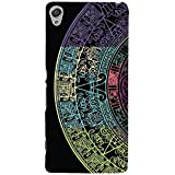 GADGETS WRAP Printed Mobile Skin For Sony Xperia XA (Circle Half Circle Semi Circle Rangoli Colourful Rangoli) -CO-