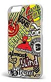 Skateboard marques Sticker Bomb iPhone 6/6S 11,9cm Housse/étui en plastique rigide pour téléphone Blanc
