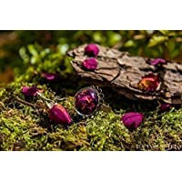 Anillo de pétalos de rosa - Joya con flores secas naturales - Anillo ajustable boho vintage botánico - - Regalos originales para mujer - Aniversario - Regalo de Navidad