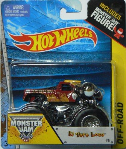 Hot Wheels Monster Jam #5 Off-Road El Toro Loco Includes Monster Jam Figure