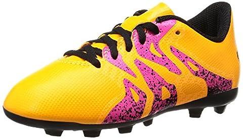 adidas X 15.4 FxG, Unisex-Kinder Fußballschuhe, Orange (Solar Gold/Core Black/Shock