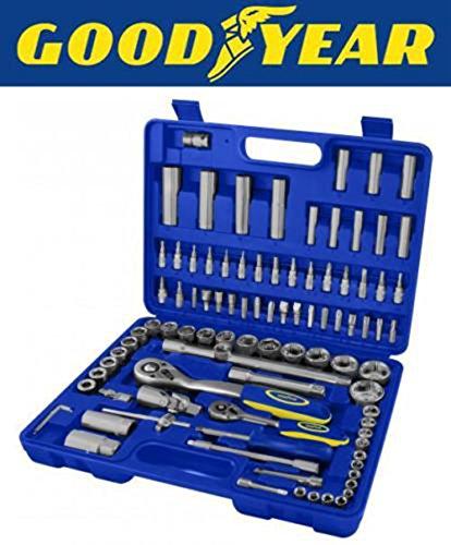 goodyear-94-pc-socket-set-professional-tool-kit-metric-ratchet-set-flexibar-sliding-tbar