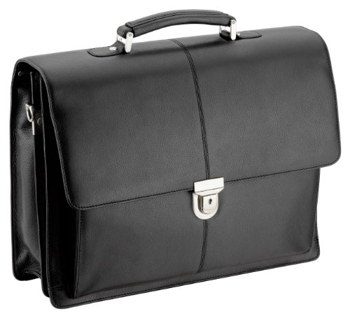 D&N Business Line Aktentasche Leder mit 1 Verschluss 40 cm schwarz