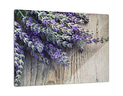 Klebefieber Glas-Schneidebrett Lavendel B x H: 39cm x 28cm