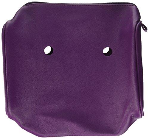 O bag Damen Bauletto City Saff Handtasche, 15 x 31 x 33.5 cm Rot (Porpora)