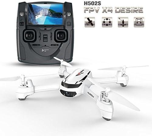 Goolsky Hubsan H502S 5,8 G FPV 720p HD Caméra Drone RC Quadcopter avec GPS Suivez-moi CF Mode (Mode sans Tête) de Retour Automatique | Impeccable