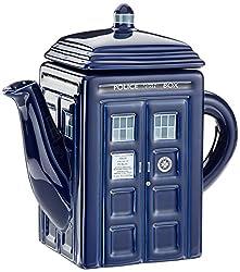 Doctor Who Teekanne Tardis aus Keramik, One Size, Mehrfarbig