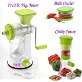 MR Fruit Vegetable Hand Juicer, Multi Crusher And Chilly Cutter Combo (Green, MRP005)
