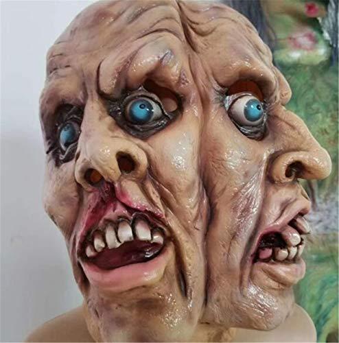Halloween-Masken, schreckliche doppelseitige Aliens, Geisterhäuser, die vor Festivalpartys flüchten, alte Leute, Kopfbedeckungen