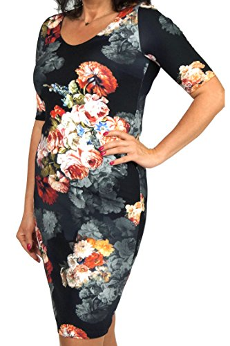 Berry® Bedrucktes Sommerkleid mit großem Blumenmuster Gr. 40-54 Mehrfarbig