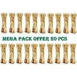 Pets Empire Pressed Dog Bone, Medium (5-inch X 20 Pieces) Mega Pack