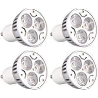 4 Stueck GU10 3W 3LEDs Dimmbar Warmweiss HIGH POWER LED Strahler Spotlicht Leuch