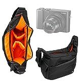 Besace de transport multi-poches pour appareil photo Olympus Stylus TG-870, Panasonic Lumix DMC-ZS60/TZ60 et TZ80 compact numérique