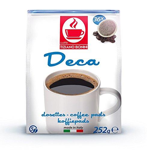 SENSEO Kaffeepads - Sorte: KOFFEINFREI/Entcoffeiniert - 180 Stück (5 Pack à 36 Pads) Kompatible Kaffeepads von Caffè Bonini Italien. Grundpreis Kaffeepulver pro 100g: 1,13€