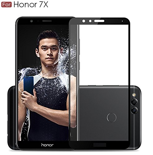 WOW Imagine Pro HD+ 9H Hardness 2.5D 0.3mm Antibacterial Toughened Full Body Tempered Glass Screen Protector for Huawei Honor 7X - Black