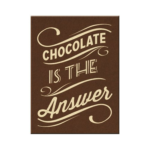 Nostalgic-Art 14312 Word Up - Chocolate is the Answer, Magnet 8x6 cm