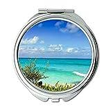 Yanteng Spiegel, Reise-Spiegel, Wolken am Strand, Taschenspiegel, tragbarer Spiegel