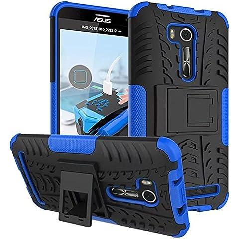 FALIANG Asus Zenfone Go TV(ZB551KL) Custodia, 2in1 Armatura Combinazione Antiurto Scudo Body Armor Copertura Defender per Asus Zenfone Go TV(ZB551KL) (Blu)