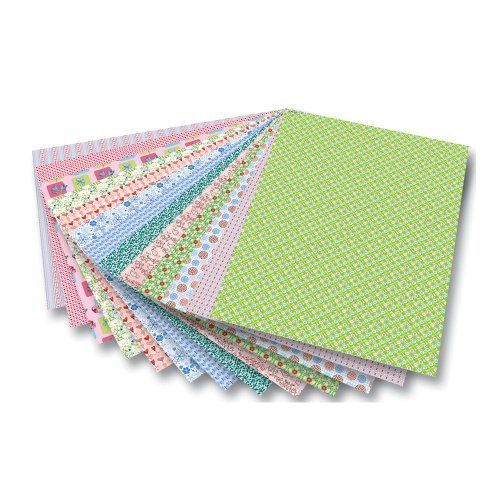 folia Motivkarton 'Romantik' 270 g/m², 50 x 70 cm, 13 Motive, Mehrfarbig (13er Pack) Muster