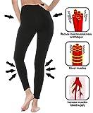 deeptwist Yoga Hose für Damen Hohe Taille - Bauch Kontrolle Shapewear Workout Running Hosen Fitness Knöchel Full-Length Leggings mit Breiten Bund Schwarz, UK-DT4005-Black-4 Test